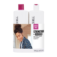 Super Strong Daily Shampoo, Conditioner Liter Duo