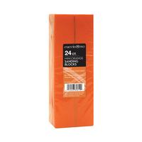 StarPro Mini Orange Sanding Blocks - 24 Count