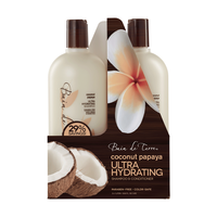 Coconut Papaya Ultra Hydrating Shampoo,Conditioner Liter Duo