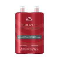 Brilliance Shampoo, Conditioner for Coarse Hair Liter Duo