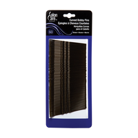 Salon Care Curved Bob Pins Brown - 60 Count