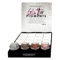 Bodyography Glitter Pigments  - 16 Count Display 2