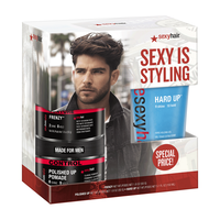 Style Sexy Hair Frenzy Paste, Hard Up Gel,Polished Up Pomade