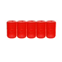 Spilo Self-Grip Rollers - 1 1/2 Inch Red 5–Count
