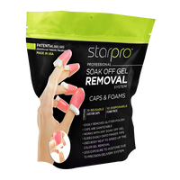Star Nail Soak Off Gel Remover Caps with Pads