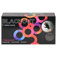 Blackout Nitrile Gloves Small - 100 Count