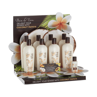 Coconut Papaya Shampoo, Conditioner - 6 Piece Display