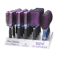NanoThermic Ceramic + Ion Plaid Collection Brush Display