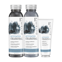 Puremix Activated Charcoal Conditioner, Shampoo, Mask