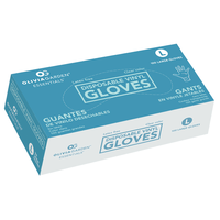 Clear Vinyl Gloves Large -  100 Count
