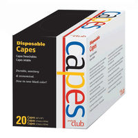 Disposable Cape Black - 20 count