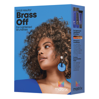 Total Results Brass Off Shampoo, Conditioner, Toning Mask