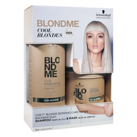 BlondMe Cool Blondes Shampoo, Bonding Mask, Pump