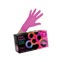 Pink Paws Nitrile Gloves Small 100 Count