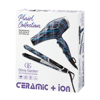 Ceramic + Ion Plaid Collection Dryer and Flat Iron Set