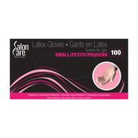 Salon Care Clear Latex Powdered Small Gloves - 100 Count