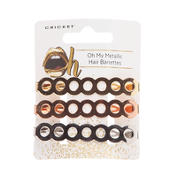 Oh My Metallic Hair Barrettes - 3 piece