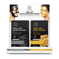 Peel Off Black and Gold Mask - 12 Count Display