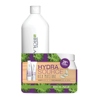 Biolage Hydrasource Shampoo, Conditioner Liter Duo