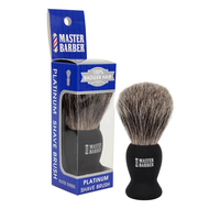 Master Barber 100% Badger Hair Platinum Shave Brush