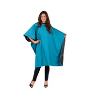 Betty Dain Reversible Black/Peacock Blue Cape