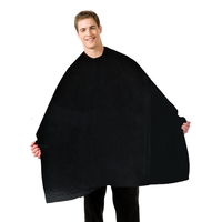 Barber Seersucker Black Cape