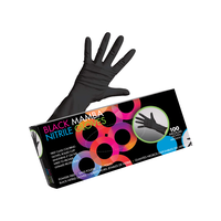 Black Mamba Nitrile Gloves - Medium 100 Count