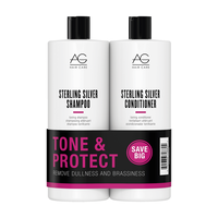 Sterling Silver Shampoo, Conditioner Liter Duo
