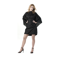 Static Free Haircutting Cape - Black