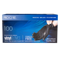 ProCare Black Vinyl Powder-Free Gloves - Medium