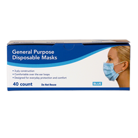 3-Ply Disposable Face Mask 40-Count