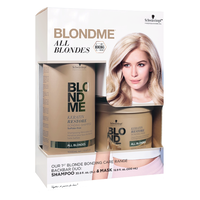 BlondMe All Blondes Shampoo, Mask, Liter Pump