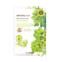 Natural Feel Sheet Mask Green Grape