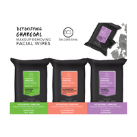 Charcoal Make-Up Remover Wipes - 18 Count