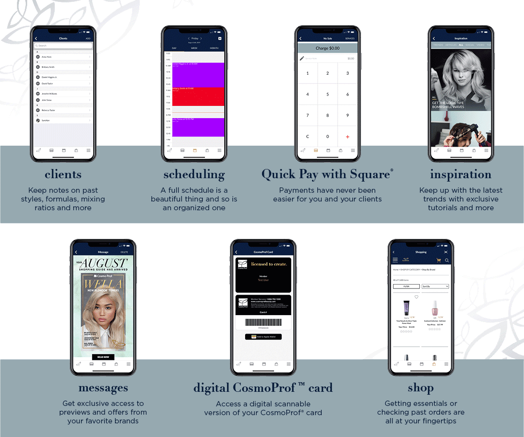 Cosmo Prof App Features