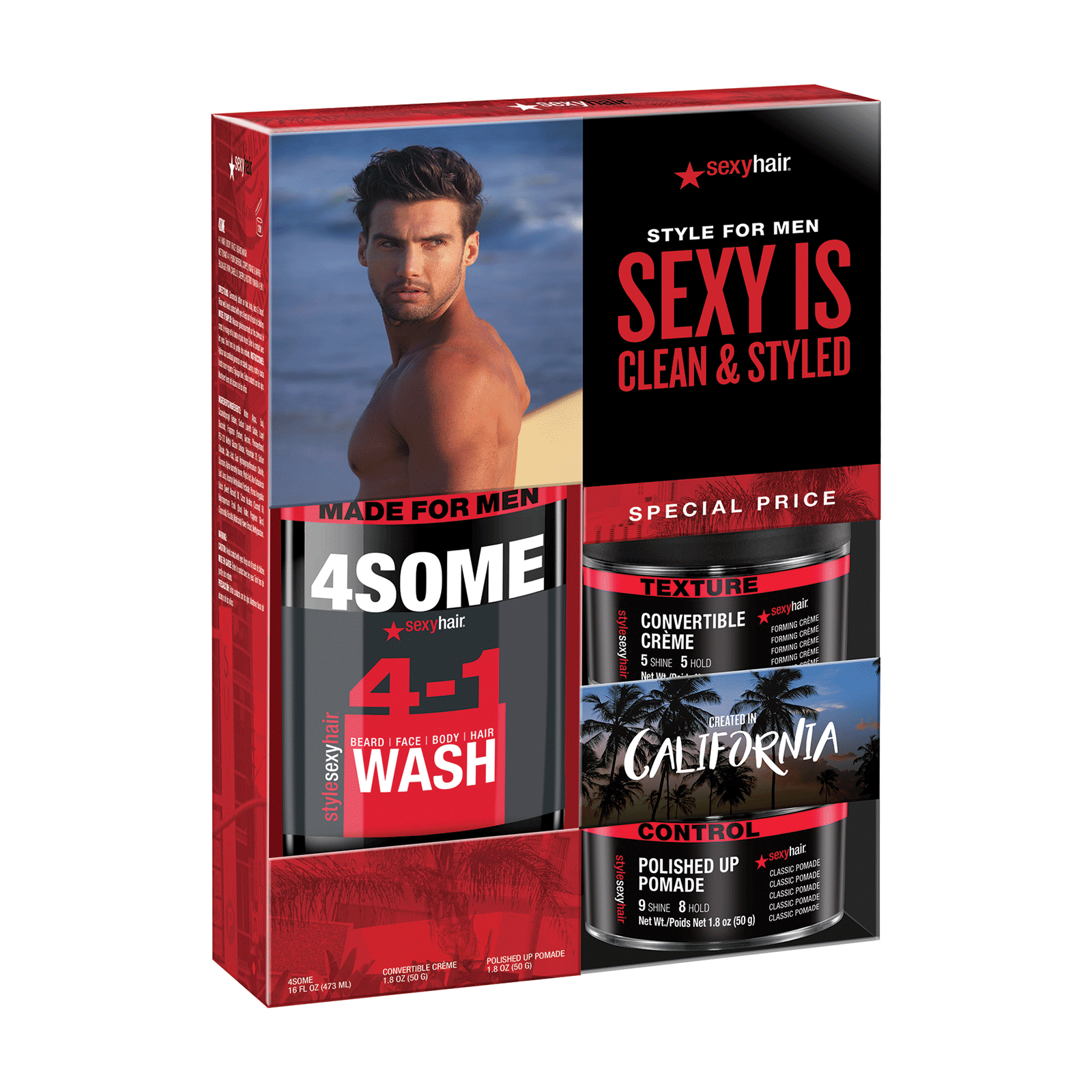 Style Sexy Hair Mens Trial Kit - Sexy Hair Concepts | CosmoProf